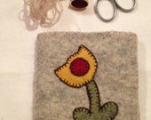 Folk art needle book for sewing kit