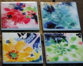 Floral Coaster (Set of 4)