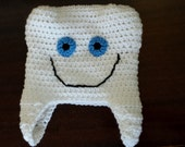 Baby or Children's Tooth Hat / Photo Prop - Made to order