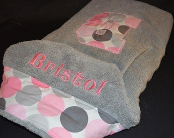 Personalized Hooded Infant / Child Towel - Bath or Beach