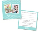 Photography Gift Certificate PSD Template INSTANT DOWNLOAD