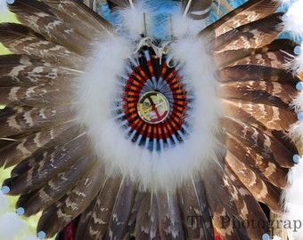 Pow Wow - Indian - American Indian - Dancer - Native American - Feather Bustle - Fine Art Photography