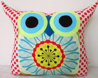 clearance sale /red/ Aqua/flower bed/ designer fabric /owl pillow/gift for her/large size/ready to ship