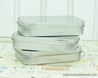 Hinged Lid Altoid Size Metal Tins Set of 5 Great for Favors, Weddings, Baby Showers, Party, Parties, or Gifts