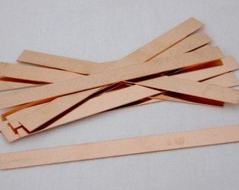 Copper Sheet Bracelet Blanks 26ga 6 in. x 0.5 in.  Package Of 12