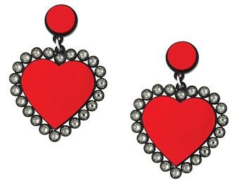 Baby Be Mine Earrings in Red
