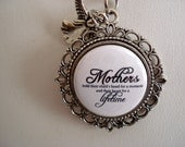 Memorial Jewelry Piece Mothers Hold Their Child's Hand For A Moment And Their Hearts For A Lifetime Floral Filigree Necklace or Key Chain