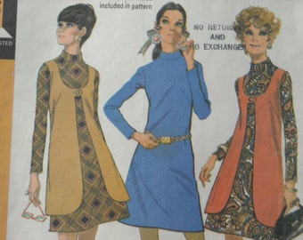 """1969 McCall's """"Step-by-step"""" pattern for dresses & vest"""