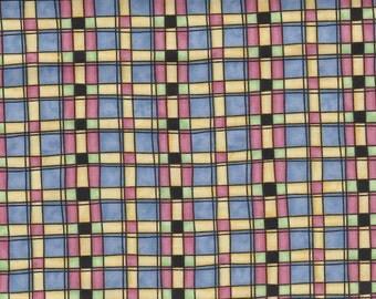 Blue Plaid 100% Cotton Fabric