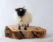 Needle Felted Scottish Blackface Sheep