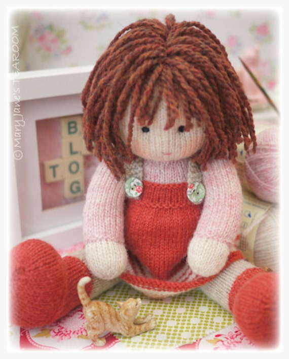 Knitting Pattern To Make A Doll : Chrystal: A TEAROOM Doll Toy Knitting Pattern/ by ...