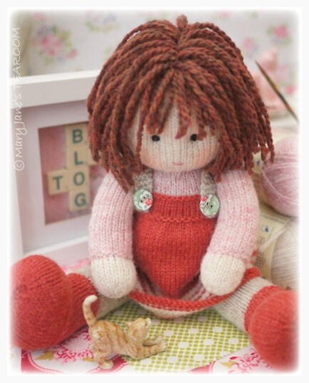 Knitting Patterns Toys Free Downloads : Chrystal toy doll knitting pattern knitted plus