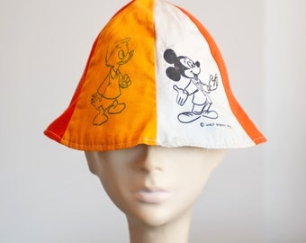RARE Disneyland 1950s RARE DISNEY Characters, Beanie Hat, Mickey Mouse, Donald Duck. Collectible