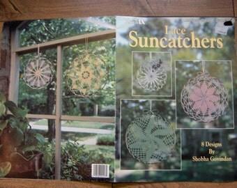 vintage 1991 crochet patterns lace suncatchers