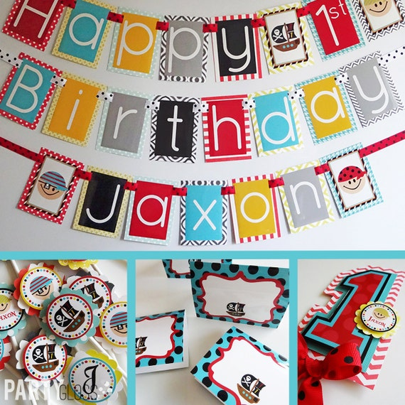 Pirate Birthday Party Decorations Package Fully Assembled