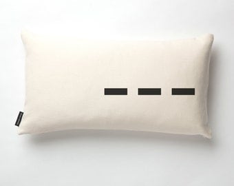 CUSTOM Airport Code Pillow in Off-white with fill