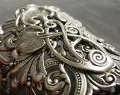 Celtic Bracelet Silver Statement Cuff Bohemian Jewelry