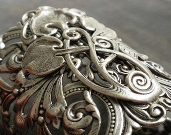 Celtic Bracelet Silver Statement Cuff Bohemian Jewelry