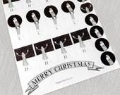 Christmas Gift Tags // 1920s flapper design art deco // PDF Printables