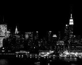 New Yoker - New York Skyline I Love New York Big Apple modern Empire State Building Skyline NYC night sex and the city Fine Art Print 8x10
