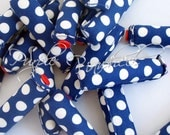 Blue Sailor Fabric Hair Curlers, size Large