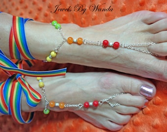 Rainbow Barefoot Bracelet - Gay Pride - LGBT