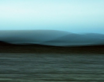 """Abstract landscape photography surreal photo blue black grey autumn fall - """"Timeless lake"""" 8 x 10"""