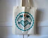 Modern hex signs - happy distlefinks tote bag