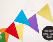 Premade: Young Women Pennant Banner-Solid (7 yds)