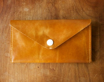 Leather Wallet - Envelope Style - The Lupe - in Restoration Honey