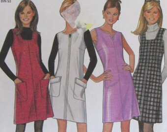New Look 6573/Misses/Womens Sewing Pattern/Sleeveless Dress or Jumper/Size 6-16