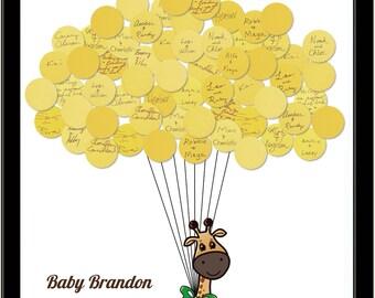 Baby Shower Giraffe Guest Book - Unique Guestbook Print
