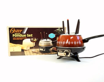 Oster Electric Fondue Set 80s NOS / Winter Holiday Entertaining