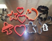 12 Vintage Cookie Cutters