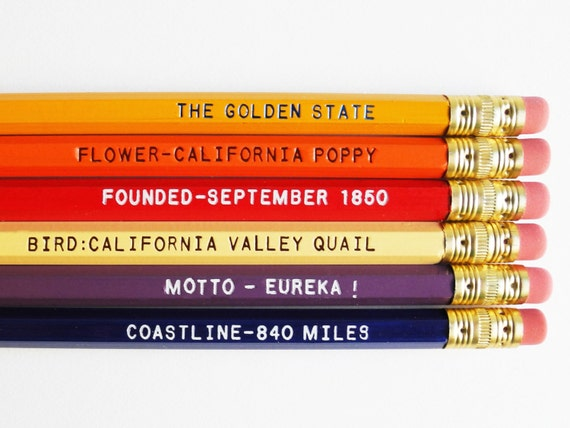 California Pencil Set
