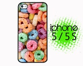 iPhone 5S Cereal Loops of Fruit Rainbow Kawaii Funny Food Plastic or Rubber Case for iPhone 5 iPhone 5S