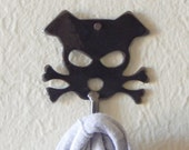 Outlaw Doggy Handmade Metal Wall Hook - Bandit - by WATTO Distinctive Metal Wear / Key Hook /Dog Leash Hook /Wall Hook