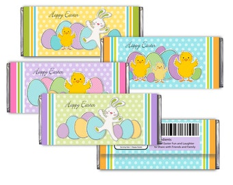 Easter Candy Bar Wrappers Printable -DIY Digital