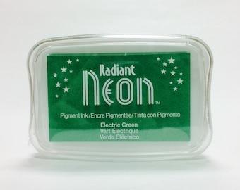 Tsukineko Radiant Neon Pigment Ink in Electric Green