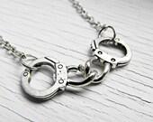 Silver Handcuff Necklace