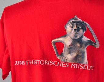 Vintage Vienna Tee Kunsthistorisches Museum Austria Super Soft n Thin Red TShirt LARGE