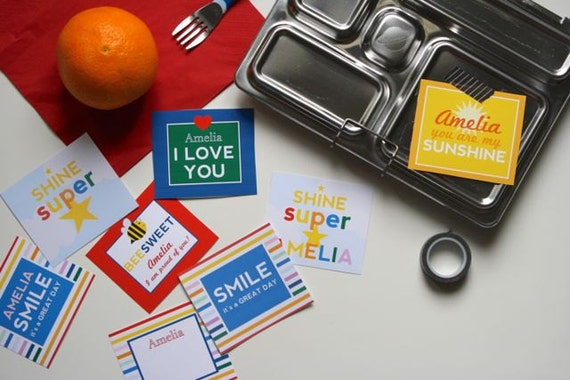 fun & bright LUNCH BOX NOTES - diy printable