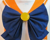 Orange Collar, Blue Bow and Yellow Brooch Sailor Scout Venus Cosplay Costume