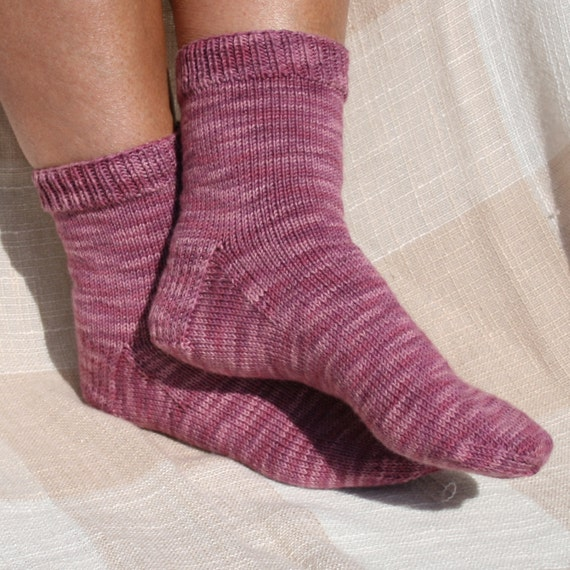 Knitting Pattern For Basic Socks : Pattern Basic Socks Pattern hand knit by leedrasheirloomgoods