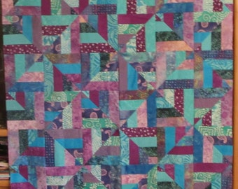 Cool Water Quilt Top