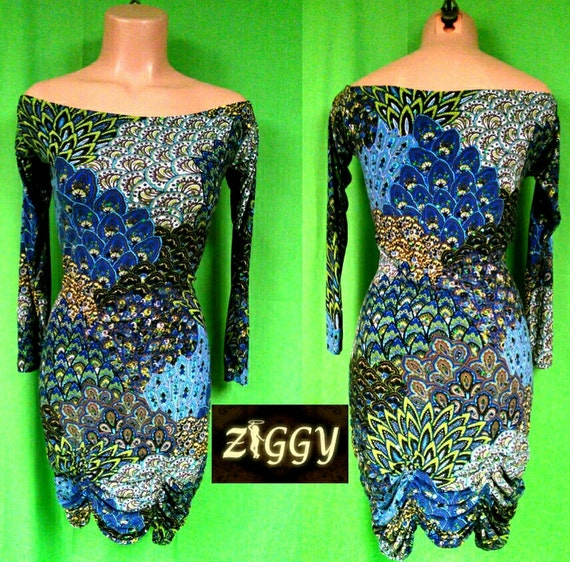Custom Off the Shoulder Dress in Prints