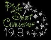 Pixie Dust Challenge Disney Run iron on rhinestone transfer for shirt half marathon 10K