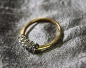 Vintage Double Row Cocktail Ring -Size 9