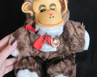 Vintage Felpa Stuffed Animal Monkey Zurich Switzerland Doll Circa 1950s NOS