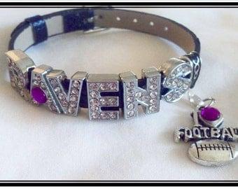 BALTIMORE RAVENS JEWELRY handmade Bracelet